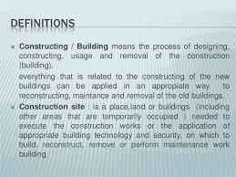building construction class definitions 4