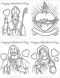 Coloring Pages Catholic Coloring Pages Printableine S Day Cards To