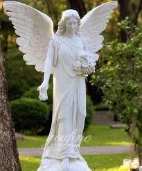 guardian angel statues garden stone
