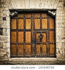 old door in burgos castilla y leon spain