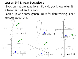 lesson 5 4 linear equations look only at the equations how do you know when