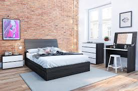 nexera furniture website. Nexera 225430 Atom 3-Drawer Reversible Storage Bed, Full, Ebony And White: Amazon.ca: Home \u0026 Kitchen Furniture Website W