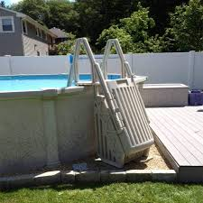 nice above ground pool steps for handicap