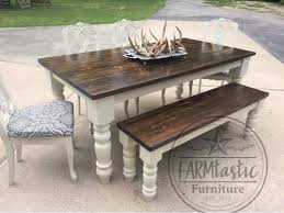 Large Distressed Pine Country Kitchen Table For Sale