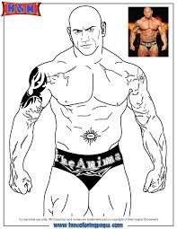 Small Picture Free Printable WWE Wrestling Coloring Pages H M Coloring
