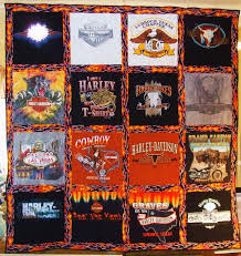 t shirt quilt...great idea for a loved one who has passed away ... & Harley Davidson Tshirt quilt Made to Order by GingerbreadQuilts Adamdwight.com