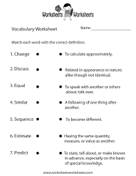 5Th Grade Vocabulary Worksheets Pdf Worksheets for all | Download ...