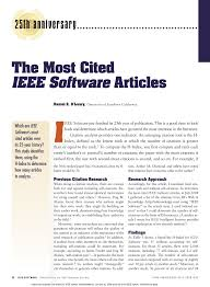 Pdf The Most Cited Ieee Software Articles