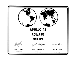 Photographic replica of the plaque apollo 13 astronauts will leave on moon nasa image and video library