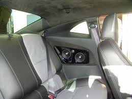 rear seating area with treo tsx component speakers and suede headliner