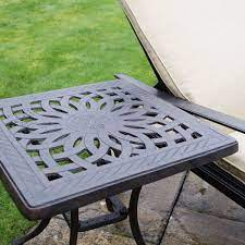 firepit grill ice 53cm side table