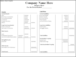 Accounting Balance Sheet Template Classified Balance Sheet Template Excel