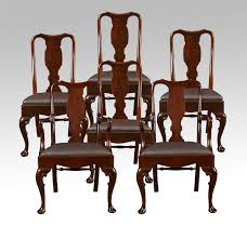 queen anne dining room table. set of six early 20th century queen anne style high back dining chairs 2 room table r