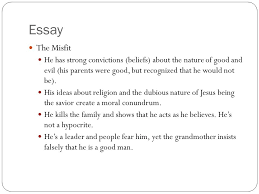 """a good man is hard to find"""" ppt video online  12 essay"""