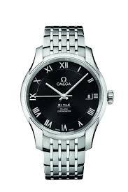 omega de ville men s black dial stainless steel bracelet watch omega de ville men s black dial stainless steel bracelet watch full size