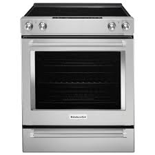 kitchenaid 6 4 cu ft slide in aqualift self clean convection range