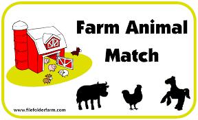 Farm Animal Matching File Folder Game Animals Farm Pinterest