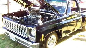 Supercharged 1974 Chevrolet C10 Step Side Walkaround - YouTube