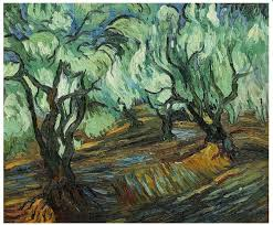 hand painted landscape wall art canvas painting olive tree by vincent van gogh painting reion no