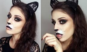 kitty cat makeup design cute cat makeup easy y cat make up for cute