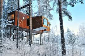 invisible tree house hotel. The Dragonfly, Newest Addition To Collection And Largest By Far, Can Accommodate Four People In Two Separate Bedrooms. 15-meter-long House Invisible Tree Hotel 0