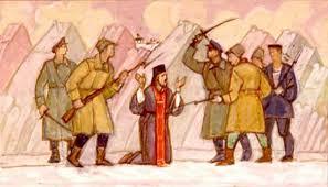 Image result for Bolsheviks slaughter priests
