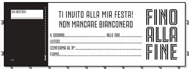 Blocchetto Inviti Compleanno Juventus Official Zebrotta Bianconera