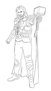 coloring page thor superheroes 23 printable coloring pages