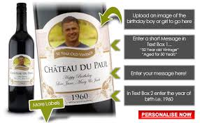 60th birthday presents gift ideas personalised wine