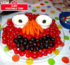 How To Decorate Salad Tray Elmo Vegetable Tray Two Sisters 87