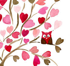 owl on hearts tree art print personalized print valentine gift girls wall art baby shower nursery decor pink brown on personalized baby girl wall art with owl on hearts tree art print personalized print valentine gift