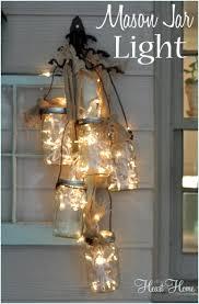 Diy mason jar lighting Light Diy Mason Jar Light All Things Heart And Home Diy Mason Jar Light All Things Heart And Home