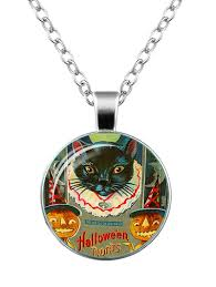 227739001 pumpkin devil cat moon necklace silver item type pendant necklace gender