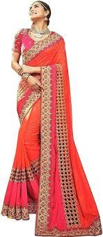 Designer Wall Sarees Buy Nirjas Designer Embroidered Embellished Bollywood