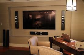Home Tv System Design Home Entertainment With Samsung Tv Totem Tribe Iii On Wall
