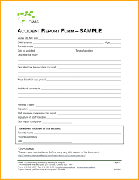 Child Care Incident Report Example Incident Hazard Report Form Template Free Resume Example Ohs