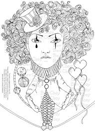 Adult Coloring Page Harlequin By Bevchoyart
