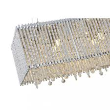 pendant chandelier twisted aluminum bar spiral shade rectangular island crystalsceiling lights