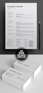 18 New Clean Cv Resume Templates With Cover Letter Mixed Sign