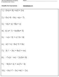 Distributive Property WorksheetsAlgebra Worksheets - D.Russell