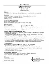 Sample Resume For Financial Service Representative Resume Financial Service Representative Objective Awesome Customer 14