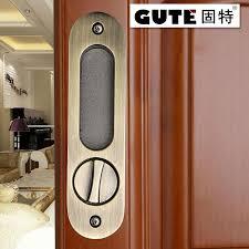 gute generic 160mm bathroom shift locks wood sliding door dedicated hook lock balcony sliding door lock for 35 45mm thickness