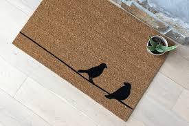 Birds on a Wire Doormat / Custom Doormat / Handmade / Gifts for ...