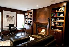 cozy home office. 15 Warm And Cozy Home Office Designs With Fireplaces