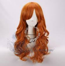 Cosplay hair wig <b>60cm</b> orange fake hair <b>fashion</b> new - Health ...