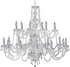 hale georgian style 18 light crystal chandelier chrome