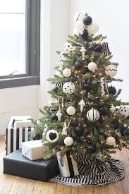 Modern Black + White Christmas Tree