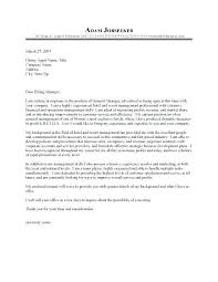 Hospitality Management Cover Letter Hospitality Management Cover