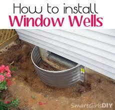 window well drainage. How To Install Window Wells - Smart Girls DIY Well Drainage