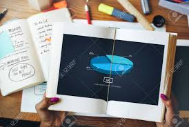 Pie Graph Analysis Statistics Report Concept Stock Photo Picture